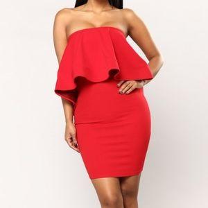 Fashion Nova Flounce House Strapless Dress Size 2X